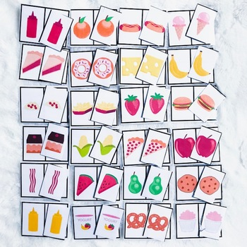 Food Identical Matching Cards