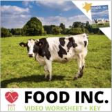 Food Inc. Movie Worksheet & KEY!