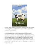Food Inc Movie Guide with Key!
