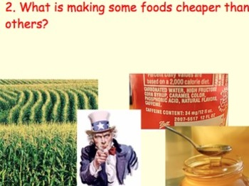 Food Industry & Health MINI UNIT: 38 Files = 7 Lessons, Videos, Experiment