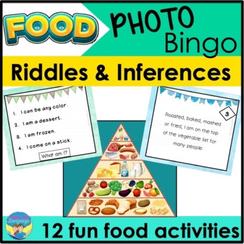 Lotto & Bingo Games: Picture Riddles for Food Vocabulary