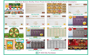 Food Items Kooky Class English PowerPoint Game
