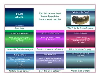 Food Items PowerPoint Presentation