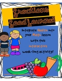 Fractions Food Journal