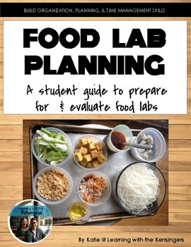 Food Lab Planning sheet for students