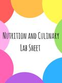 Food Lab Sheet
