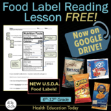 """Food Label Reading Lesson FREE! """"Is This Product Healthy?"""" NOW ON GOOGLE DRIVE"""