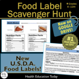 Distance Learning Health Nutrition Lesson: Food Label Scavenger Hunt!