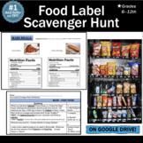 Distance Learning Health Nutrition Lesson: Food Label Scavenger Hunt!