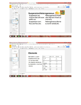 Food Label task(Matter, elements, compounds and mixtures)