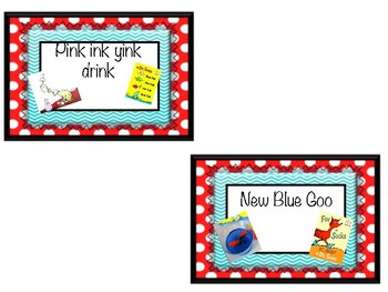 Food Labels Seuss Inspired