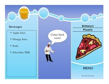 Food Lesson on creating a Menu