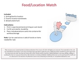 Food Location Match Task Box or File Folder
