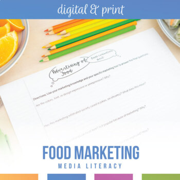 Media Literacy with Advertising of Food: Analysis Activity