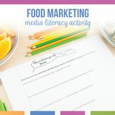 Media Literacy: Advertising of Food Digital Analysis Activity