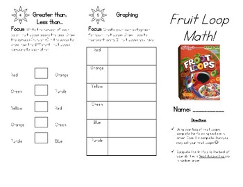 picture about Fruit Loop Rainbow Printable Template titled Fruit Loops Graph Worksheets Schooling Elements TpT