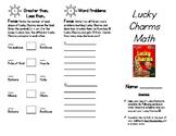 Food Math: Lucky Charms Math!