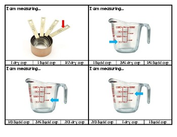 Food Measurement Task Box Cards