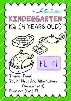 Food - Meat and Alternatives (I): Blend FL - Kindergarten, K2 (4 years old)