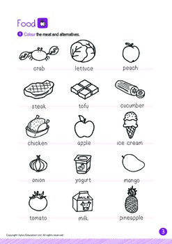 Food - Meat and Alternatives (III): Blend FR - Kindergarten, K2 (4 years old)