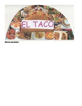 Spanish Food Menu Project and Rubric, DEMO, and Writing Worksheet