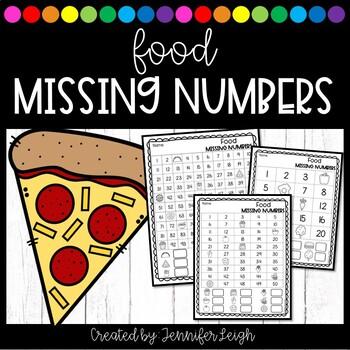 Food Missing Number Worksheets