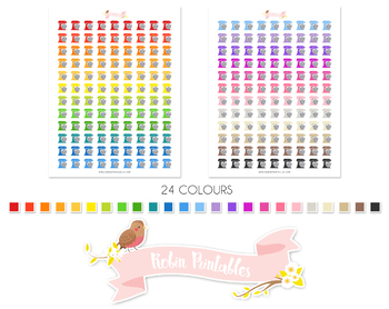 Food Mixer Printable Planner Stickers