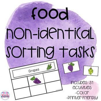 Food Non-Identical Sorting Tasks