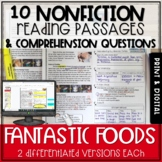 Food Nonfiction Passages and Questions - Print and Digital
