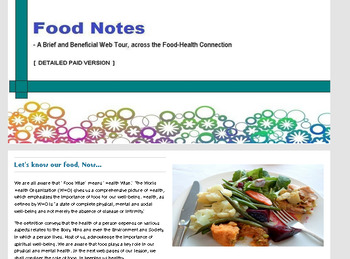 Food Notes - A Food Health Web Tour (FULL Version)