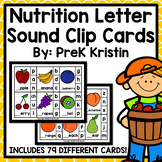 Food/Nutrition Beginning Sound Clip Cards