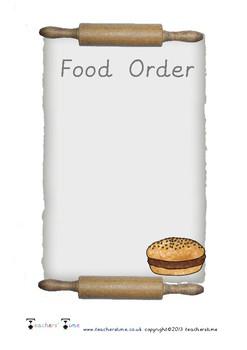 Food Order Form