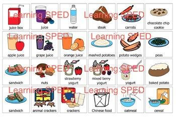 Food PECs PEC symbols 144 symbol lot Life skills special education communication
