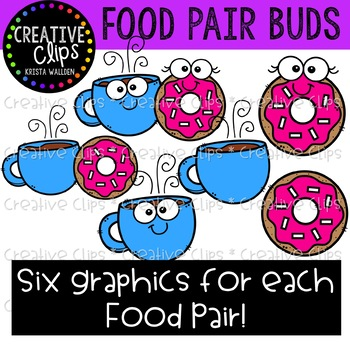 Food Pair Buds: Food Clipart {Creative Clips Clipart}