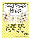 Food Photo Bingo