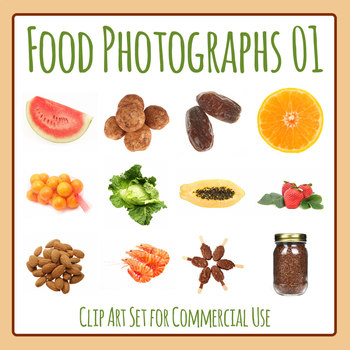 Food Photos / Photograph Clip Art Set for Commercial Use