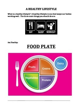 HEALTHY LIVING: EATING (FOOD PLATE), EXERCISE, HYGIENE, AND SLEEP (GRADES 2 - 4)