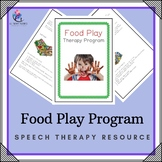 Food Play Program - Speech Therapy Program (great for special needs)