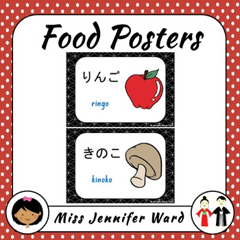 Food Posters in Japanese