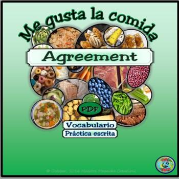 """Food Preferences Fill In Worksheet / Preferencias de comida con """"gustar"""""""
