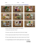 Italian Food Preferences Worksheet School Lunches Around t