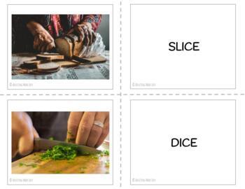 Food Prep Vocabulary Flashcards & Sorting Activity
