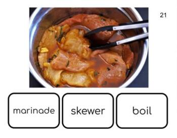 Food Prep Vocabulary Task Cards with Real Images