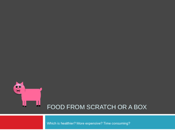 Food Preparation: Convenience or Scratch