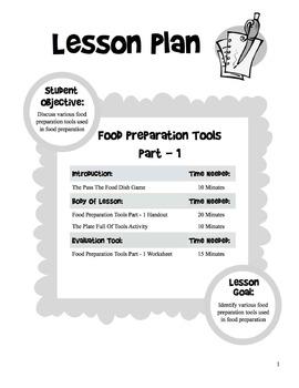 Food Preparation Tools - 5 Day Unit