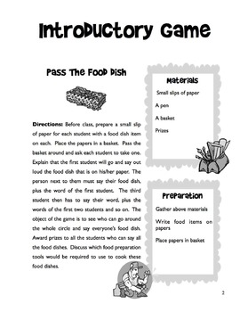 Food Preparation Tools - 5 Day Unit