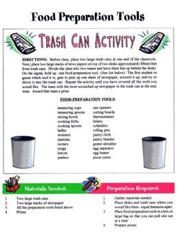 Food Preparation Tools Game / Activity