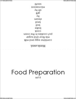 Food Preparation (set II) Picture Flashcards