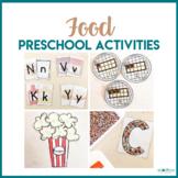 Food Preschool Theme- Literacy, Math, STEM, & Art Centers