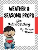 Weather & Seasons Props for Online Teaching (VIPKid)